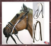 Complete  Gag Bridle Padded Contrasting Color
