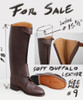 Front Zip Buffalo Leather Boot SIZE MEN # 9