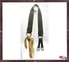 Nylon Webbing Girth with Rawhide strap
