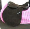 American style polo saddle all suede dark brown color