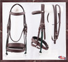 """#1 Complete Gag Bridle """"Extra Comfort""""  PADDED LEATHER CAVESON AND DROP NOSEBAND"""
