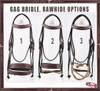 """Complete Gag Bridle """"Extra Comfort"""" 3 Options"""