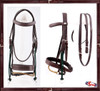 #2 PADDED LEATHER CAVESON AND RAWHIDE CENTER BRAIDED DROP NOSEBAND