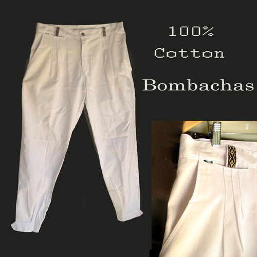 These traditional Argentine bombachas are 100% cotton thus making them extremely comfortable and cool even when under the hot sun .