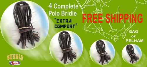 "4 Complete Pelham Bridles ""Extra Comfort"""