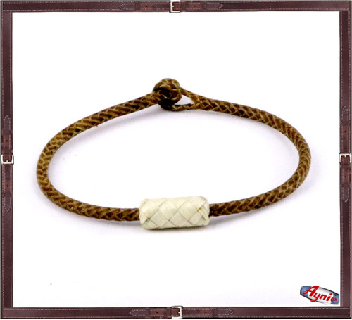 Braided Rawhide and a Long Dot. Brown