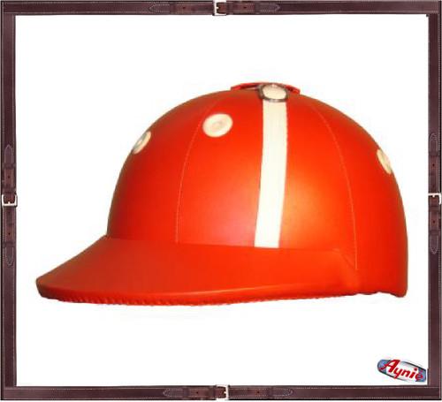 Custom All Leather  Lock Style Polo Helmet