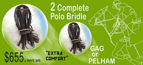 2 Complete Pelham Bridles