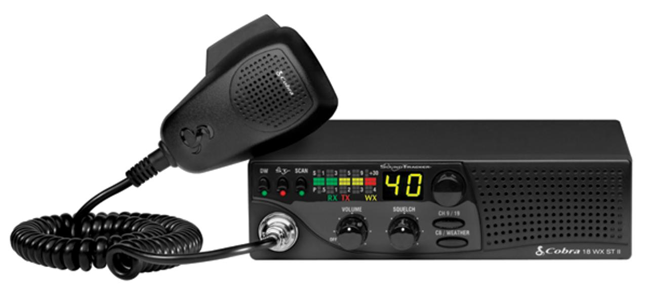 Cobra 18WXSTII with SoundTracker® and NOAA Weather