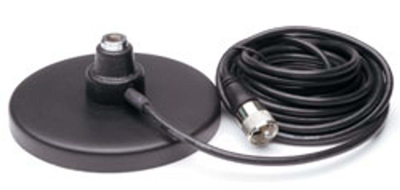 "Magnet Mount 3/8"" x 24 Antenna Base with Coax Cable"