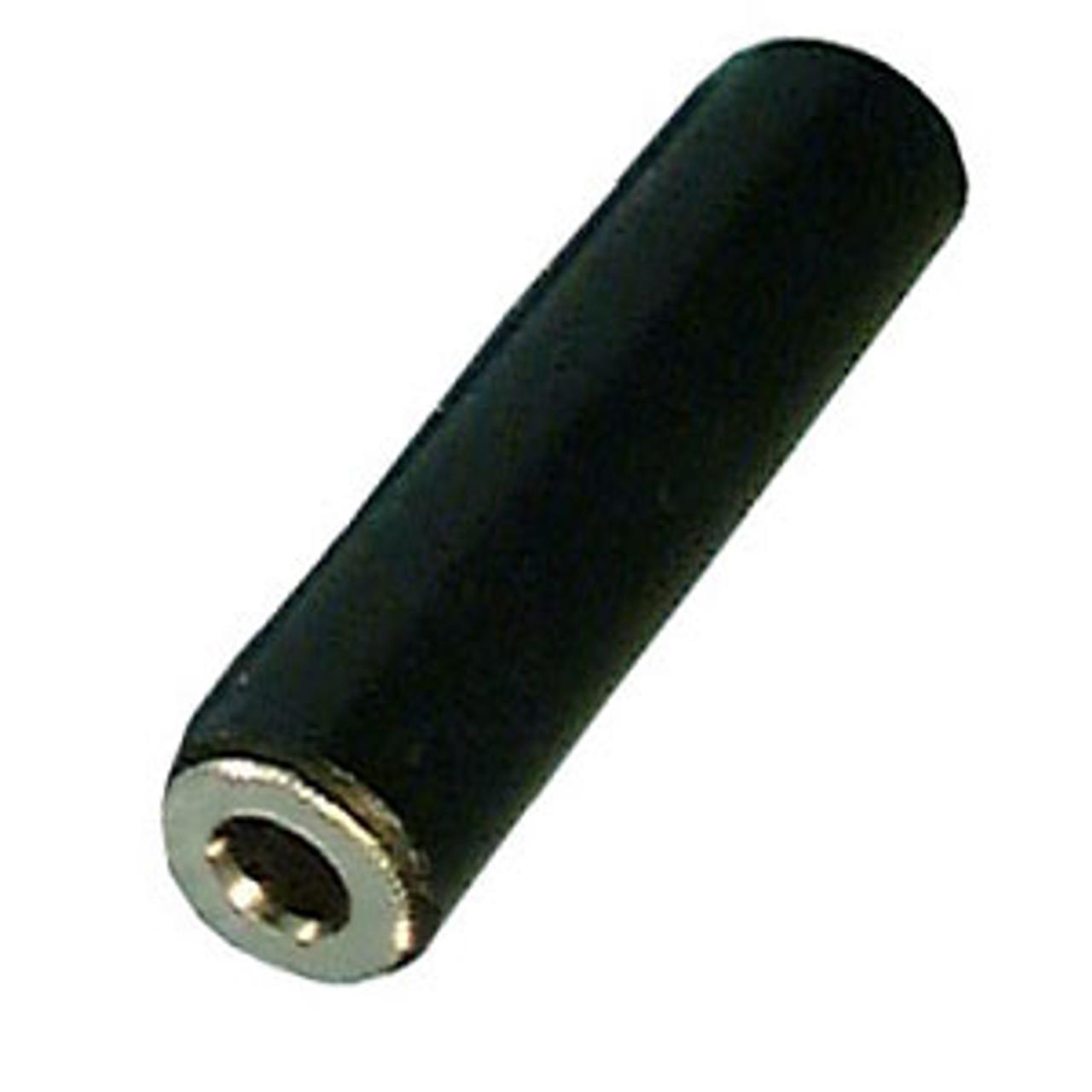 """1/4"""" Mono Black Plastic Inline Jack"""