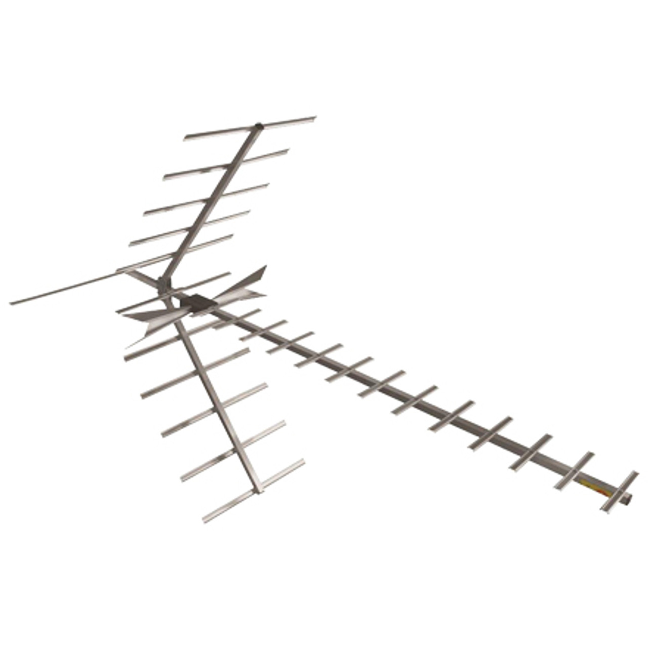 DigiTenna® DT-XFAMP20-2 Extreme Fringe Antenna w/ Embedded Amplifier & Extra Input VHF Hi-Band/UHF, 0-80+ Miles