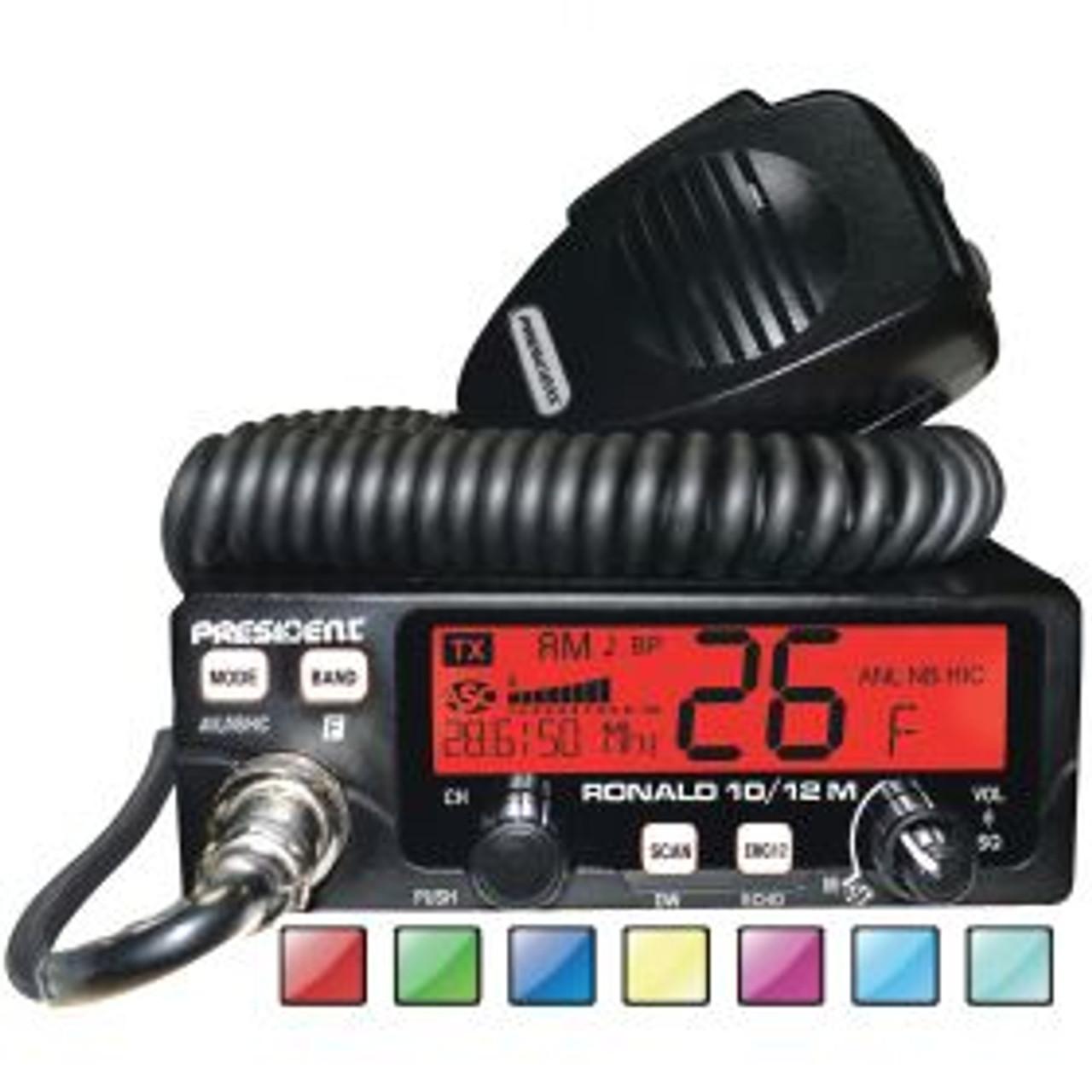 PRESIDENT - RONALD 50 WATTS 10/12 METER AM/FM AMATEUR RADIO