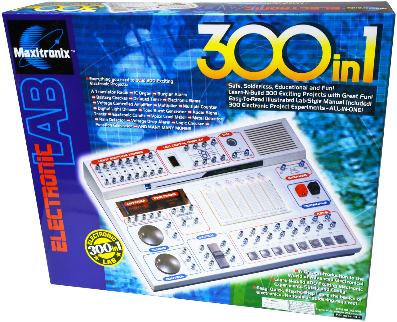 300-in-1 Electronic Project Lab
