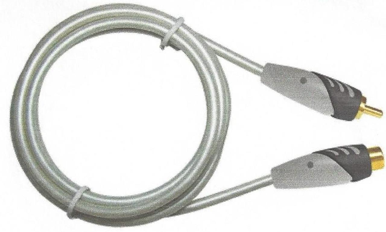 MediaStar RCA Male to Female Audio Cable