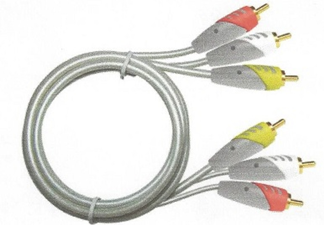 MediaStar 3 RCA Male to Male A/V Cable