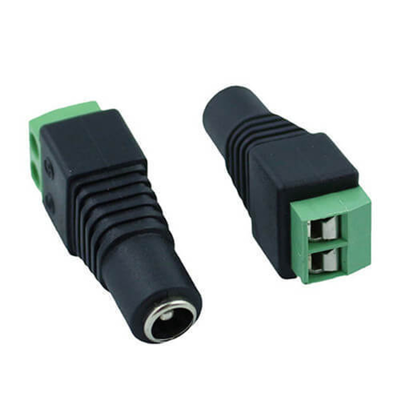 COAXIAL POWER PLUG - 2.5mm x 5.5mm to Solderless Terminal - 5 Pk