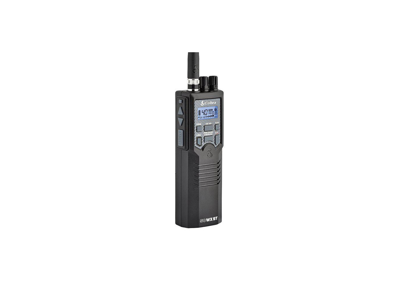 Cobra HH50 WXST Handheld CB Radio with Soundtracker and NOAA Weather