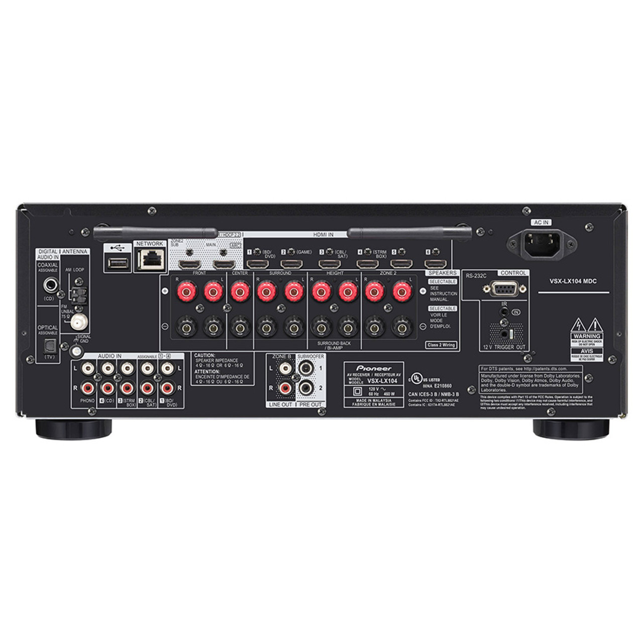 Pioneer VSX-LX104 7.2-ch Network AV Receiver
