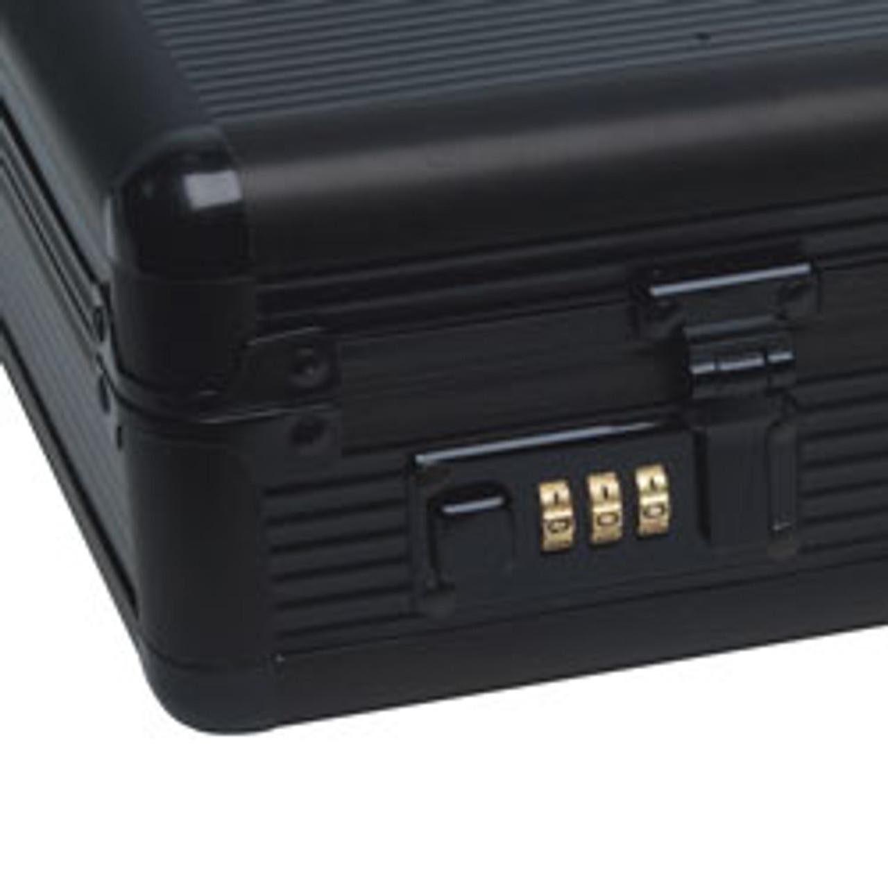 """RoadPro(R) - 17.5"""" Black Aluminum Briefcase"""