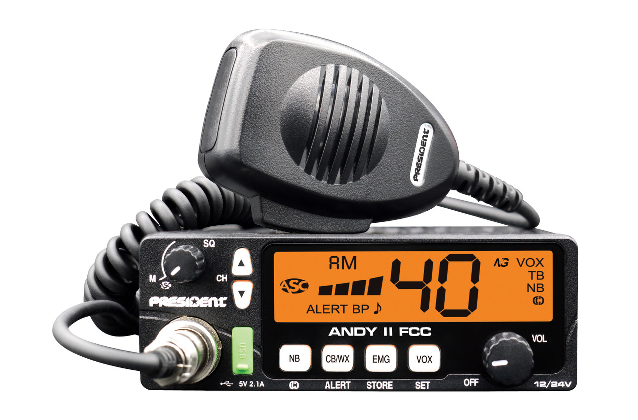 President Andy II Ultra Compact - 12/24V CB Radio