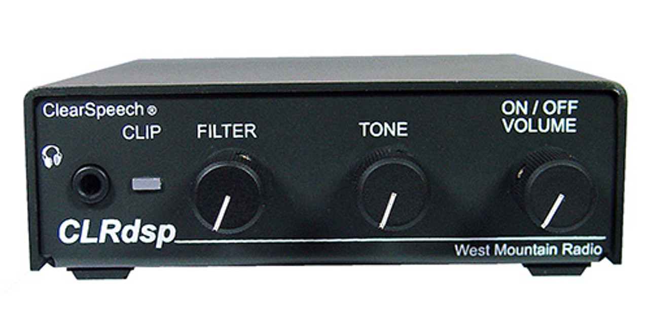 West Mountain Radio CLRdsp ClearSpeech® DSP Noise Reduction Processor - NEW MODEL