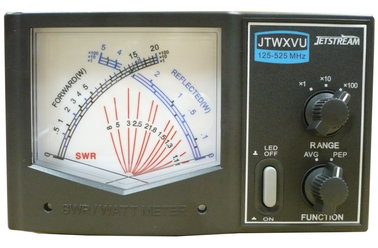 Jetstream JTWXVU 125-525 MHz Large Cross Needle Wattmeter
