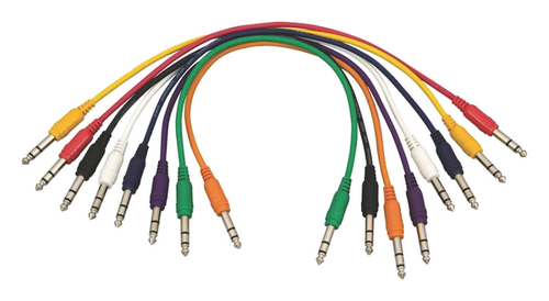 """Hot Wires 17"""" Straight TRS Patch Cable - 8 Pack"""