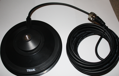 """Tram 5 1/2"""" Magnet Mount 3/8"""" x 24 with Coax Cable"""