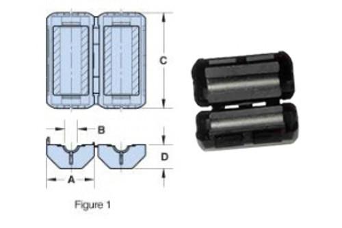 Dimensions: A - 0.788 inch B - 0.260 inch C - 1.550 inch D - 0.385 inch