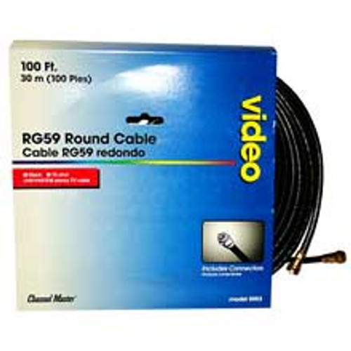 Channel Master  RG59 Coax Cable Hookup 100ft