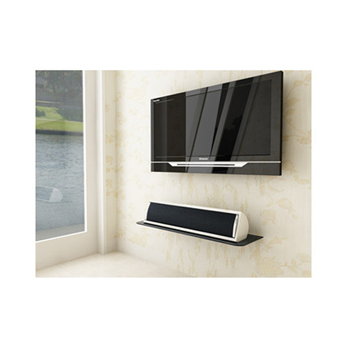 Royal Mounts™ Glass AV Component Shelf (Black) - Large