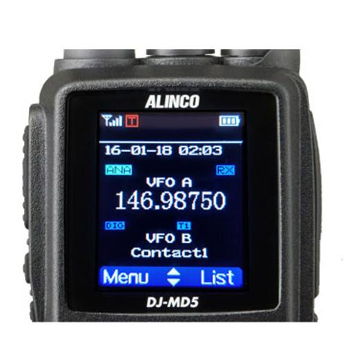 ALINCO DJ-MD5XT Dual Band DMR 5W Part 90 Color LCD w/GPS (2nd Gen)