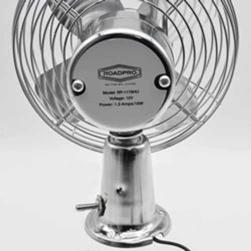 RoadPro(R) - 12-Volt Heavy-Duty Metal Fan