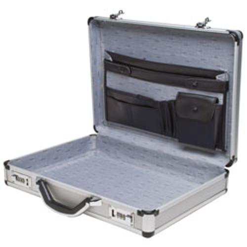 "RoadPro(R) - 17.5"" Silver Aluminum Briefcases"