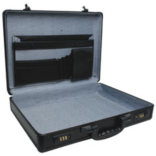 "RoadPro(R) - 17.5"" Black Aluminum Briefcase"
