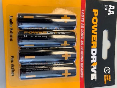 POWER DRIVE ALKALINE AA 4PK - Ultra Long Lasting Batteries