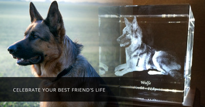 A Beautiful Photo Crystal Memorial Will Honor Your Lost Pet