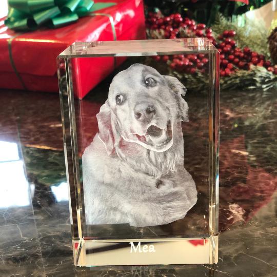 3D Laser Dog Memorial Crystal