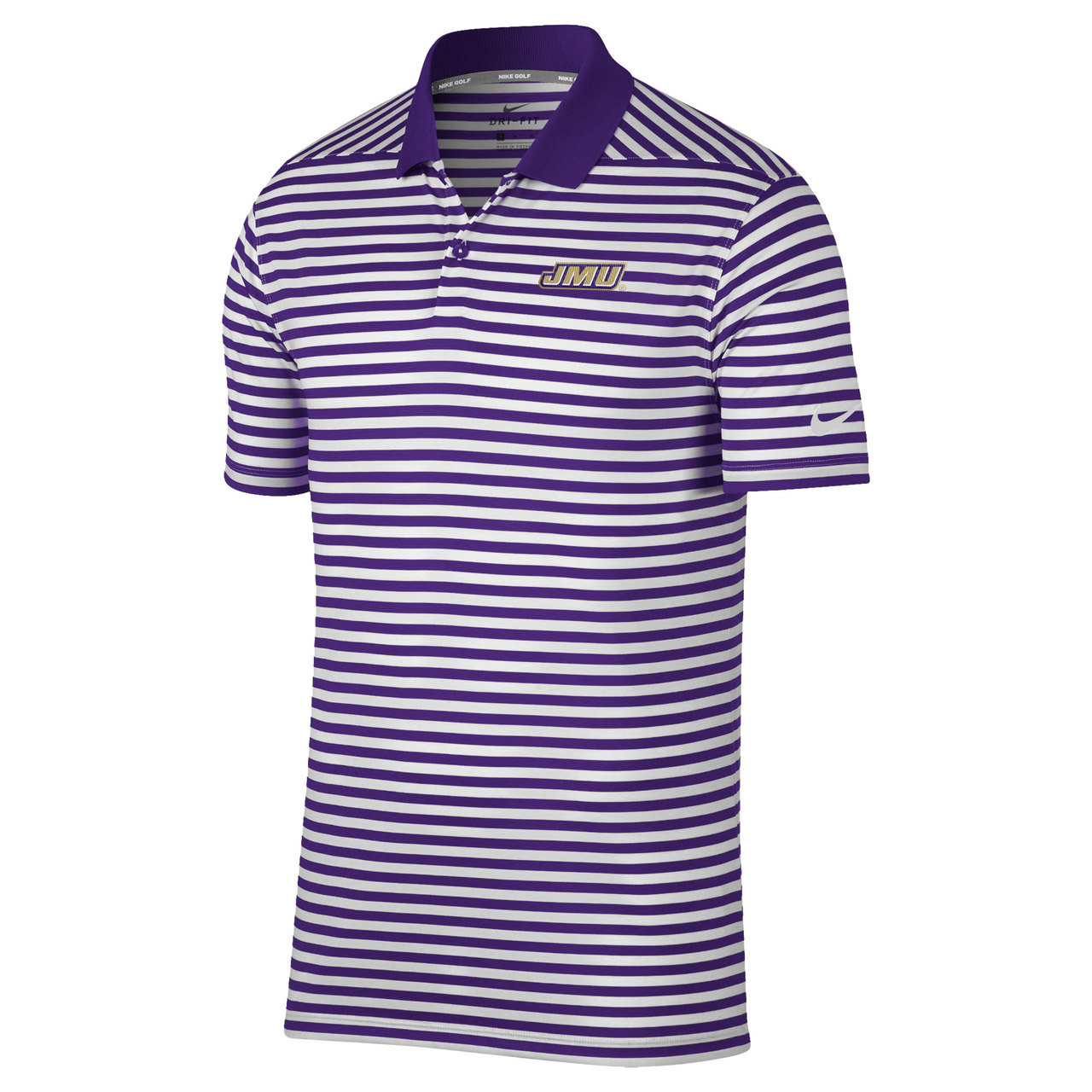 b4eb5a869 Nike JMU Victory 2.0 Mini Stripe Polo - University Outpost