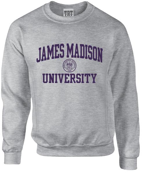 James Madison University with Crest on Crew Cross Grain