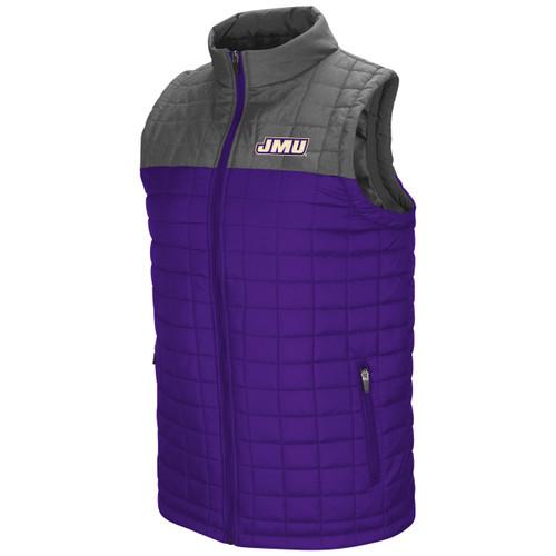 Amplitude Puffer Vest- Black and Charcoal Split