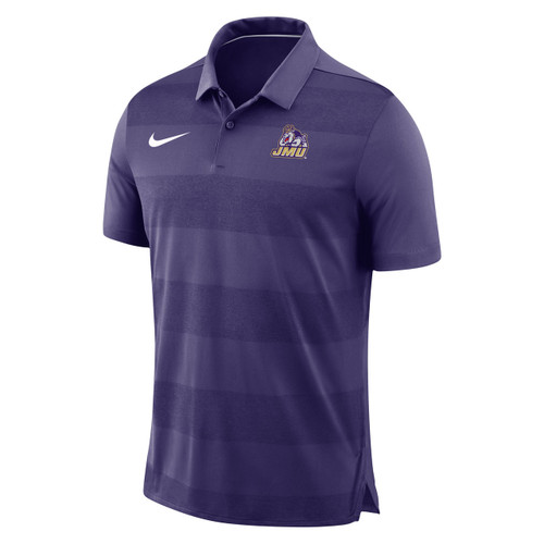 Nike Black Purple Striped Polo