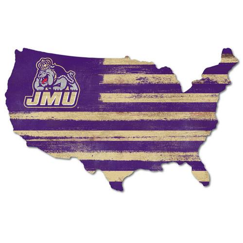 JMU Purple & Gold USA Sign