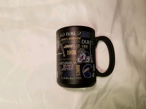 15oz Matte Black Sublimated Mug