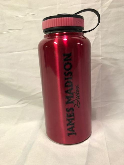 Pink JMU Water Bottle
