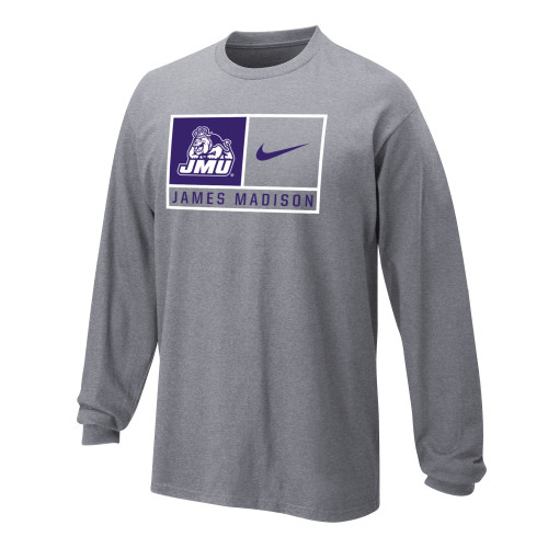 Nike Boys Core Cotton Long Sleeve Tee