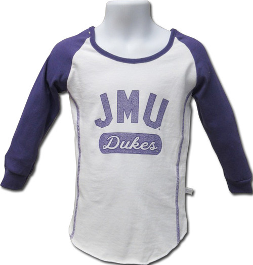 Girls Cotton Fitted Raglan Tee