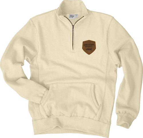 Zip Cadet Sandy Fleece with leather patch 1/4 Zip