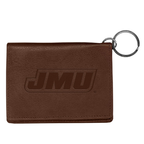 Leather Id Holder with Keychain